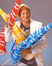 Robin Williams Autographed 8x10 Beach Umbrellas Photo AFTAL
