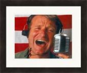 Robin Williams autographed 8x10 photo (Good Morning Vietnam) #SC2 Matted & Framed