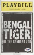 Robin Williams Autographed Bengal Tiger At The Baghdad Zoo Broadway Playbill – PSADNA