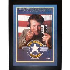 Robin Williams Autographed Good Morning Vietnam Deluxe Framed 20″x28″ Movie Poster – JSA Full Letter