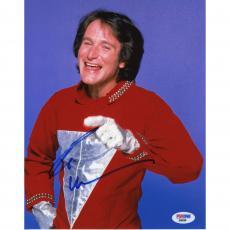 "Robin Williams Autographed Mork & Mindy Red Shirt 8"" x 10"" Photograph - PSA"