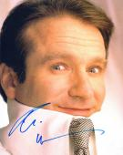Robin Williams Autographed Signed 8x10 Up Close Necktie Photo UACC RD AFTAL COA