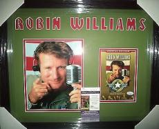 "Robin Williams ""good Morning Vietnam"" Signed Double Matted & Framed A Jsa Coa"