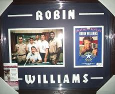 "Robin Williams ""good Morning Vietnam"" Signed Double Matted & Framed B Jsa Coa"