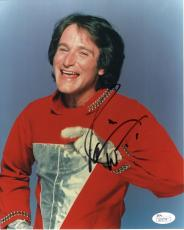 ROBIN WILLIAMS HAND SIGNED 8x10 COLOR PHOTO       RARE    MORK+MINDY       JSA