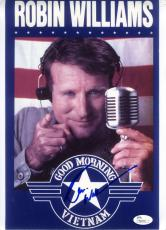 ROBIN WILLIAMS Hand Signed JSA 9X11 Photo Autograph GOOD MORNING VIETNAM