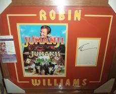 Robin Williams Jumanji Movie Autographed Signed Double Matted & Framed Jsa Coa