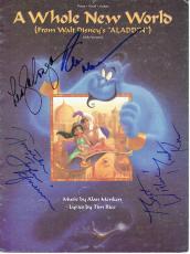 Robin Williams/Lea Salonga/Brad Kane Signed Aladdin Autographed Sheet Music PSA/