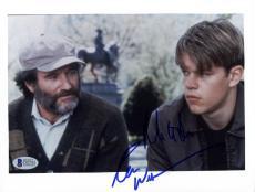 "Robin Williams & Matt Damon Autographed 8""x 10"" Good Will Hunting Photograph - Beckett COA"