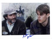 "Robin Williams & Matt Damon Autographed 8""x 10"" Good Will Hunting Photograph - Beckett COA"