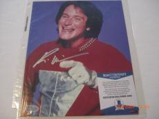 Robin Williams Mork And Mindy Deceased Beckett/coa Signed 8x10 Photo