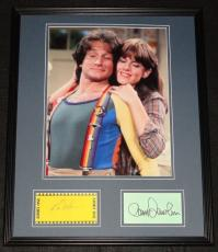 Robin Williams & Pam Dawber Dual Signed Framed Mork & Mindy 16x20 Photo Display