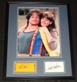 Robin Williams & Pam Dawber Dual Signed Framed Mork & Mindy 16x20 Photo Set C