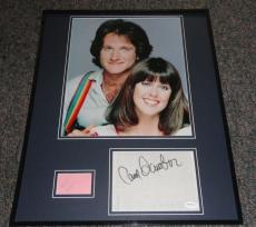 Robin Williams & Pam Dawber Dual Signed Framed Mork & Mindy 16x20 Photo Set JSA