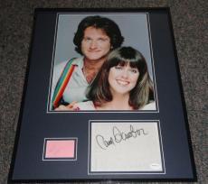 Robin Williams & Pam Dawber Dual Signed Framed Mork & Mindy 16x20 Photo Set JSA