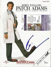 "Robin Williams ""patch Adams"" Movie Signed Autographed Magazine Jsa Coa #l29349"