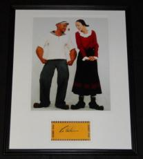 Robin Williams Signed Framed 16x20 Photo Poster Display Popeye