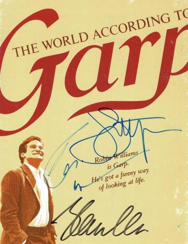 Robin Williams/Glenn Close/John Lithgow Authentic Signed Garp Program PSA/DNA