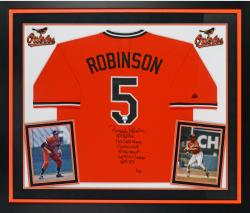 "ROBINSON, BROOKS RMD AUTO ""MUL"" (DLX) (ORG/MLB) JS LE24 2-23 - Mounted Memories"