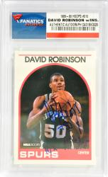 David Robinson San Antonio Spurs Autographed 1989-90 Hoops #310 Rookie Card with 10 X All Star Inscription