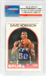 David Robinson San Antonio Spurs Autographed 1989-90 Hoops #310 Rookie Card with HEB 12.7-9 Inscription