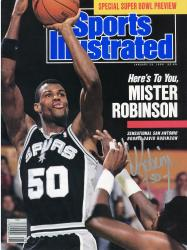 David Robinson San Antonio Spurs Autographed Here's To You Sports Illustrated