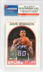 David Robinson San Antonio Spurs Autographed 1989-90 Hoops #310 Rookie Card with HOF 2009 Inscription