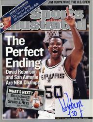 David Robinson San Antonio Spurs Autographed Perfect Ending Sports Illustrated