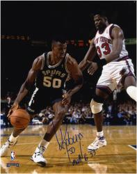 "David Robinson San Antonio Spurs 8"" x 10"" Dribble Autographed Photo"