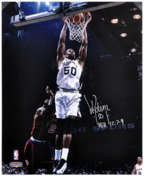 "David Robinson San Antonio Spurs Autographed 16"" x 20"" Photograph with HEB 12:7-9 Inscription"