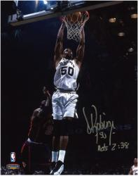 "David Robinson San Antonio Spurs Autographed 8"" x 10"" Photograph with Acts 2:38 Inscription"
