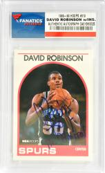 David Robinson San Antonio Spurs Autographed 1989-90 Hoops #310 Rookie Card with The Admiral Inscription
