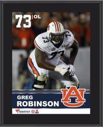 "Greg Robinson Auburn Tigers Sublimated 10.5"" x 13"" Plaque"