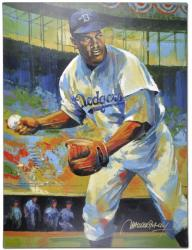 Jackie Robinson Brooklyn Dodgers Unsigned 36'' x 48'' Giclee - Mounted Memories
