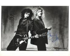 Rock Gods Jimmy Page David Coverdale Signed Autographed 16x20 Photo PSA/DNA