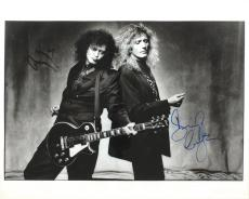 Rock Gods Jimmy Page David Coverdale Signed Autographed 16x20 Photo PSA/DNA