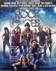 Rock Of Ages Cast 7 Signed 11x14 Photo Tom Cruise C.c. Deville Russell Brand