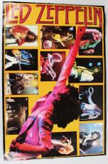 Rock Star – Led Zeppelin – Jimmy Page Signed Stage Photo Collage Poster (JSA Full LOA)