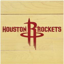"NBA Houston Rockets 12"" x 12"" Logo Floor Piece"