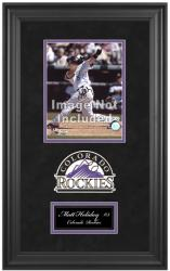 "Colorado Rockies Deluxe 8"" x 10"" Team Logo Frame - Mounted Memories"