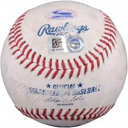 Colorado Rockies vs. Texas Rangers 2014 Game-Used Baseball - Mounted Memories