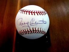 Rocky Colovito Indians Dodgers Yankees All-star Signed Auto Baseball Jsa