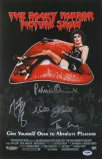 Rocky Horror Picture Show (4 Sigs) Signed Auto 11x17 Photo PSA/DNA #AA59667