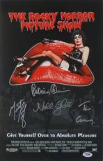 Rocky Horror Picture Show (4 Sigs) Signed Auto 11x17 Photo PSA/DNA #AA59668