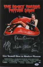 Rocky Horror Picture Show (4 Sigs) Signed Auto 11x17 Photo PSA/DNA #AA59669