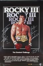 Rocky III Signed Autographed 24x36 Poster Stallone Hogan Young Beckett BAS