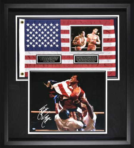 Rocky IV Signed by Sylvester Stallone. 36×40