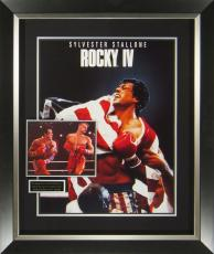 Rocky IV Sylvester Stallone and Dolph Lundgren Signed Poster