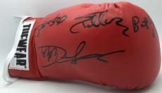 Rocky IV Sylvester Stallone Dolph Lundgren Burt Young Signed Boxing Glove JSA
