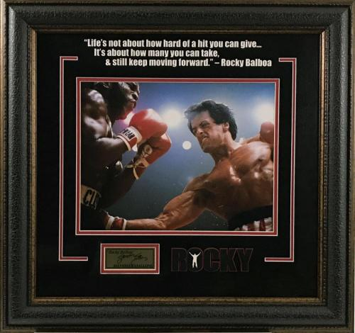 Rocky Movie Famous Quote with Laser Signature Framed